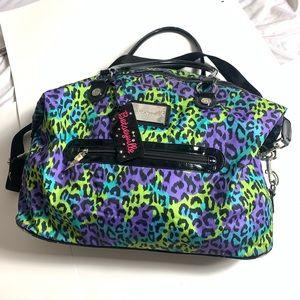 Betsey Johnson Leopard Animal Print Duffle Bag
